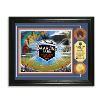 Miami Marlins MLB Stadium Dirt Coin Photo Frame