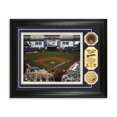 Milwaukee Brewers MLB Stadium Dirt Coin Photo Frame