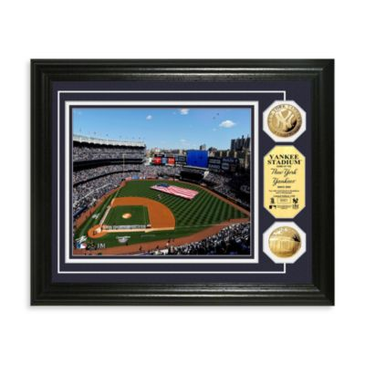 New York Yankees MLB Stadium Gold Coin Photo Frame