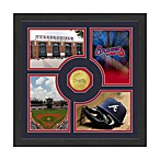 Atlanta Braves Fan Memories Minted Bronze Coin Photo Frame