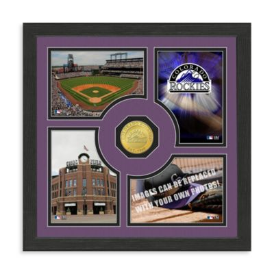 Colorado Rockies Fan Memories Minted Bronze Coin Photo Frame
