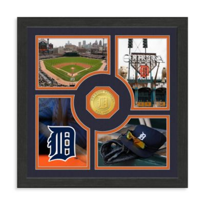 Detroit Tigers Fan Memories Minted Bronze Coin Photo Frame