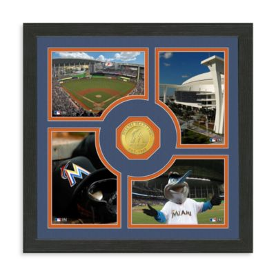 Miami Marlins Fan Memories Minted Bronze Coin Photo Frame