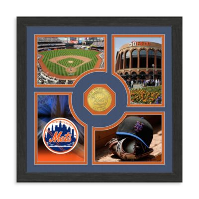 New York Mets Fan Memories Minted Bronze Coin Photo Frame