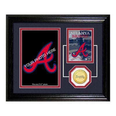 Atlanta Braves Fan Memories Desktop Photo Mint Frame