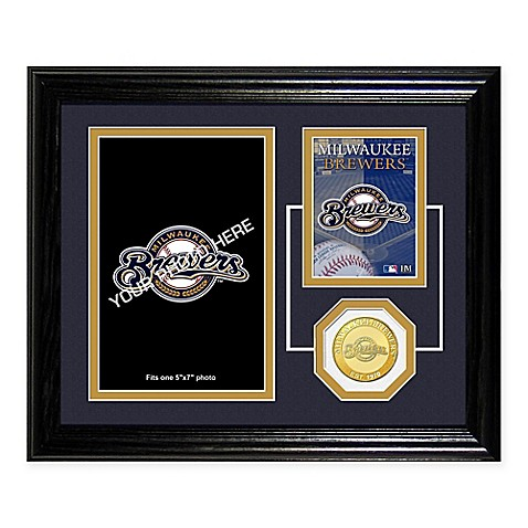Milwaukee Brewers Fan Memories Desktop Photo Mint Frame