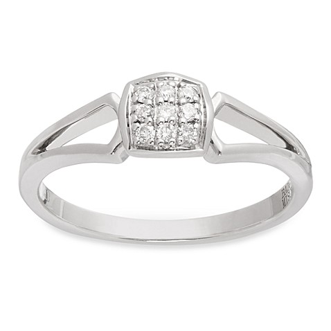Badgley Mischka® The Romantics Pave .09 cttw Diamond Promise Ring