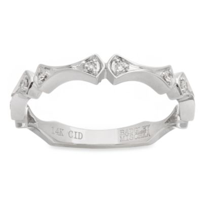 Badgley Mischka® Romantics 14K White Gold Arabesque Diamond Band