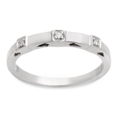 Badgley Mischka The Romantics Size 6 14K Diamond Band (.03 cttw, I1-I2 clarity, H-I) in White Gold