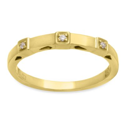 Badgley Mischka® The Romantics Size 8 14K Gold Diamond Band (.03 cttw, I1-I2 clarity, H-I)