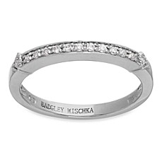 Badgley Mischka® The Romantics 14K White Gold .13 cttw Diamond Band