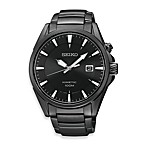 Seiko K in etic Men's Black Ion Finish Stainless Steel Watch
