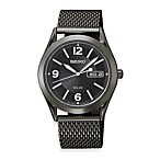 Seiko Men's Solar Black Dial BIF 30M Watch