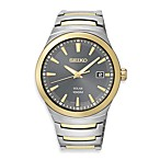 Seiko Men's Solar Two-Tone w/Grey Dial Watch