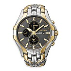 Seiko Men's Solar Two-Tone w/Grey Dial Chronograph 100M Watch