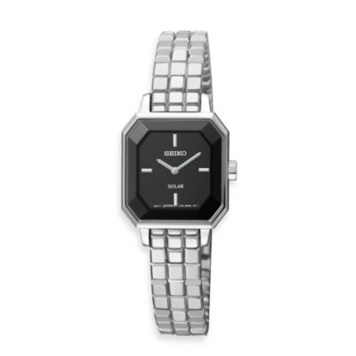 Seiko Ladies Stainless Steel Solar Modern Watch
