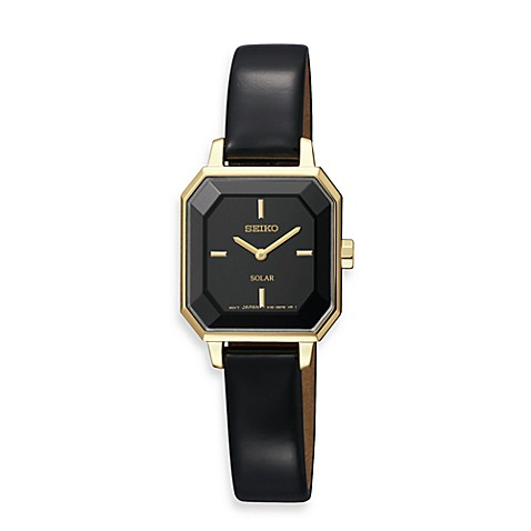 Seiko Ladies Leather Solar Modern Dress Watch