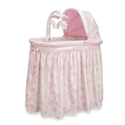 Simmons Kids® Pink Paisley Bassinet