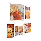 Abstract Poppy 5-Piece Art Set