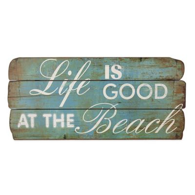 """Life is Good At the Beach"" Wood Plaque Wall Art"