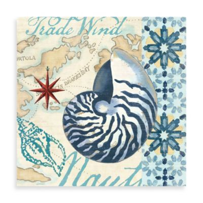 Canvas Nautilus Seashell Wall Art