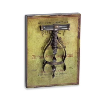 Corkscrew Mini-Plaque in Green