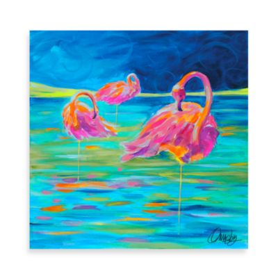 Wild Flamingo Paradise Wall Art