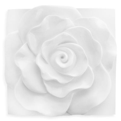 Curvy Rose Glossed Wall Sculpture