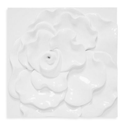 Wavy Rose Glossed Wall Sculpture