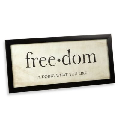 Freedom Definition Wall Art