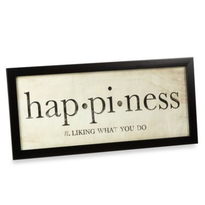 Happiness Definition Wall Art