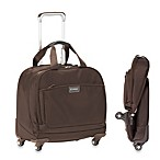 Biaggi Contempo 16-Inch Foldable Overnight Business 4-Wheet Tote in Brown