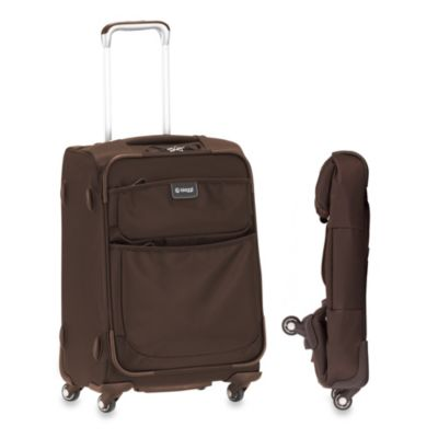Biaggi Contempo 20-Inch Foldable 4-Wheel Spinner Carry-On Luggage in Brown