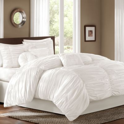 buy white fluffy soft bedding from bed bath beyond