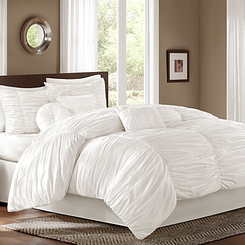 Sidney California King 7-Piece Comforter Set in White