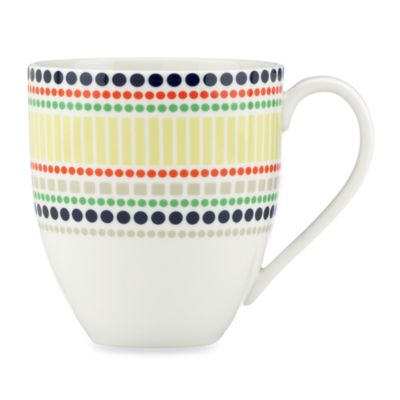 kate spade new york Hopscotch Porcelain 14-Ounce Dotted Mug