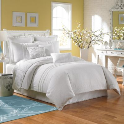 Laundry by Shelli Segal® Ava King Duvet Cover in White