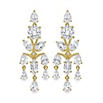 Badgley Mischka® Vintage Elegance Stering Silver Vermeil Earrings