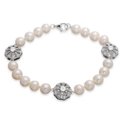 Badgley Mischka® Sterling Silver Vintage Elegance Bracelet