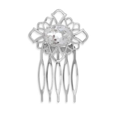 Badgley Mischka® Sterling Silver Petal Perfect Hair Comb