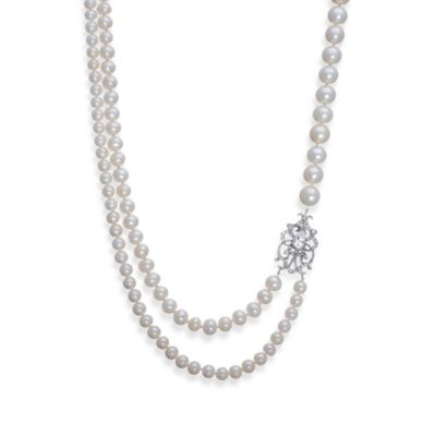 Badgley Mischka® Soft & Sophisticated Sterling Silver Necklace