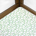 Just Born® Playard Sheet in Green Circles