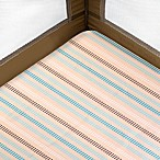 Just Born® Playard Sheet in Dot Stripes in Turquoise