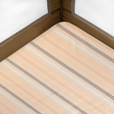 Just Born® Playard Sheet in Dot Stripes in Orange