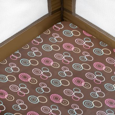 Just Born® Playard Dot Circles Sheet in Pink