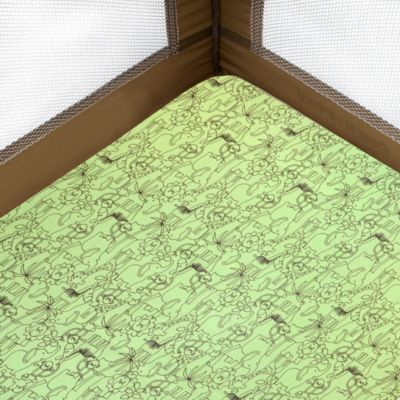 Just Born® Playard Sheet in Jungle Fun Green