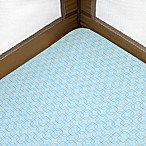 Just Born® Playard Sheet in Light Aqua