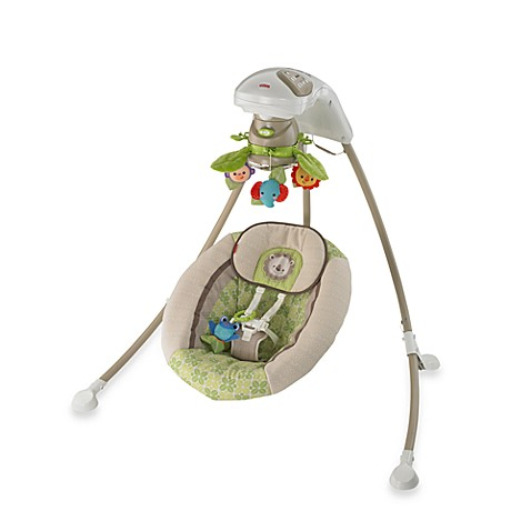 Fisher Price 174 Rain Forest Friends Deluxe Cradle N Swing