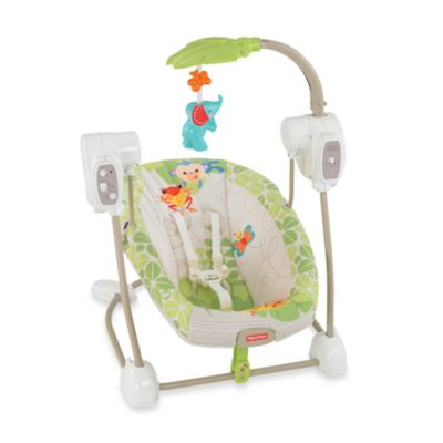 Fisher-Price® Rain Forest Friends SpaceSaver Swing & Seat - from Fisher Price