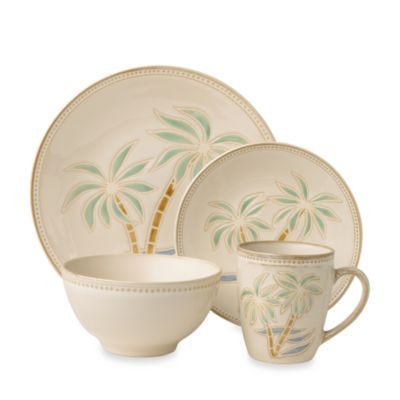 Everyday Palm 16-Piece Dinnerware Set